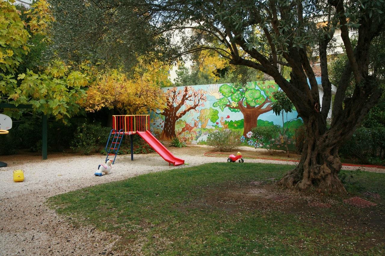 Εξωτερικός χώρος παιδικού σταθμού Πιτσιρικούπολη